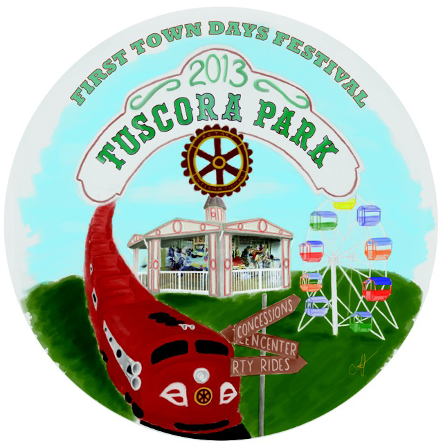 2013 First Town Days Souvenir Plate
